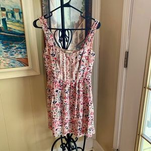 Pink Floral Lace Forever 21 Boutique Dress Sz M